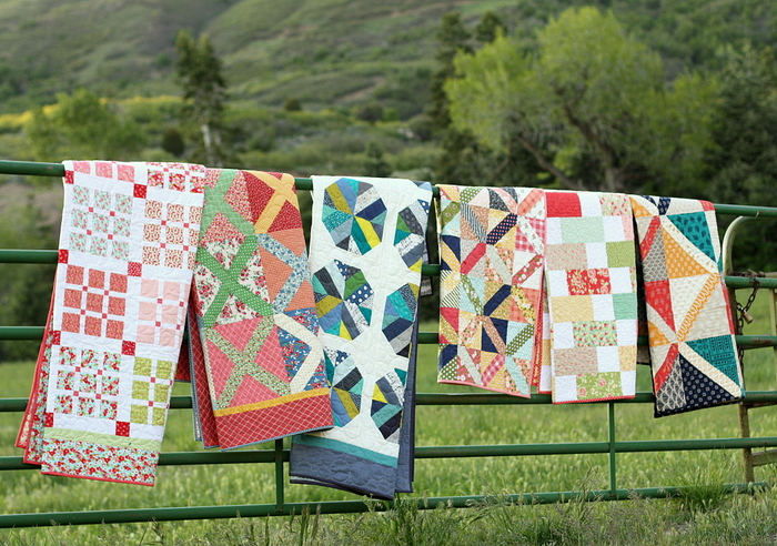 Video classes for 7 quilts made with precuts