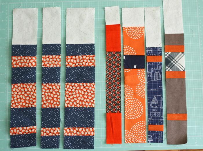 Books Quilt strip piecing