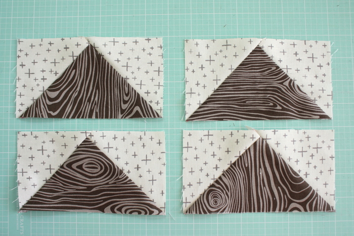 Fast Flying Geese + Sawtooth Star Quilt Block Tutorial featured by top US quilting blog, Diary of a Quilter: Flying Geese No Waste method