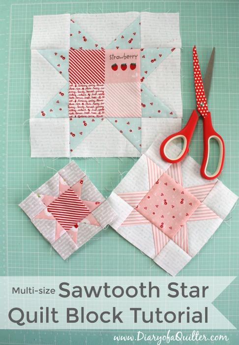 Quilt Block Sawtooth Star Tutorial 2
