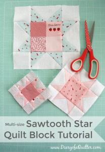 Quilt Block Sawtooth Star Tutorial final