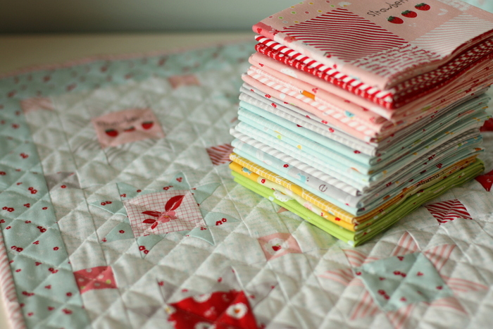 Fast Flying Geese + Sawtooth Star Quilt Block Tutorial featured by top US quilting blog, Diary of a Quilter: Sweet Orchard Riley Blake