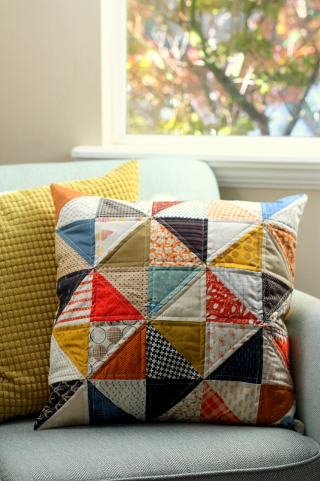half-square-triangle-pillow