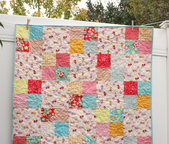 simple-four-patch-baby-quilt