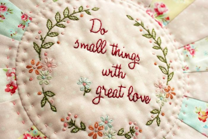 Great Love embroidery pattern by Amy Sinibaldi