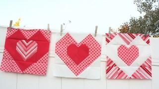 Heart quilt block tutorial