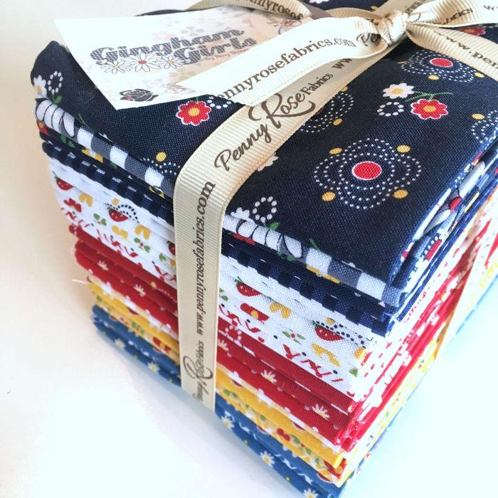 Gingham Girls Fabric FQ Bundle