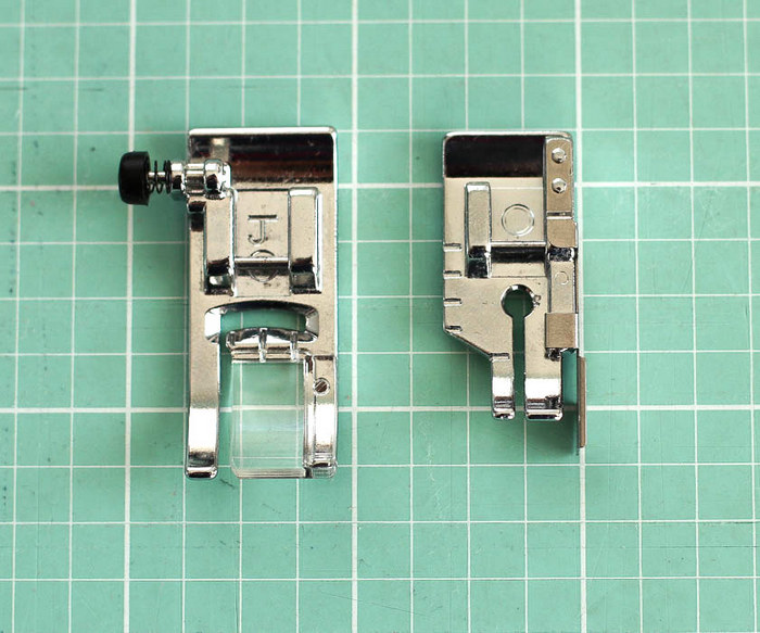 Sewing machine feet for piecing quilts