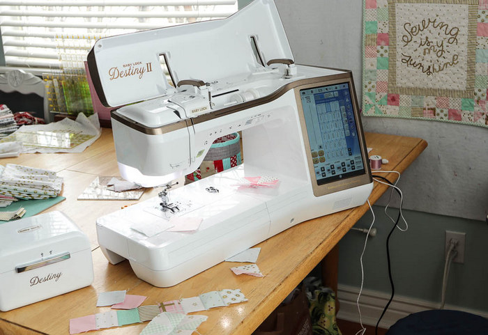Sewing and quilting supplies featured by top US quilting blog, Diary of a Quilter: Baby Lock Desitny II sewing machine