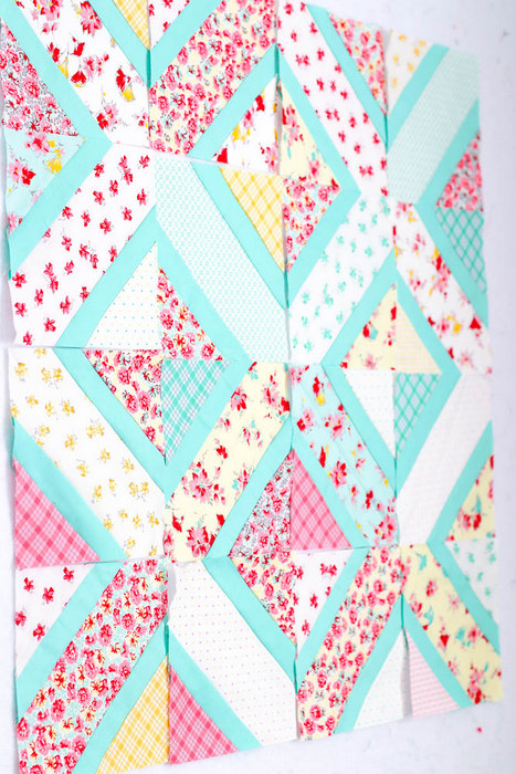 Double Crossed Quilt Design using Lily from Penny Rose Fabrics.