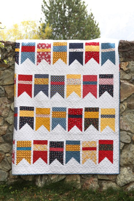Summer Bunting Quilt pattern by Amy Smart