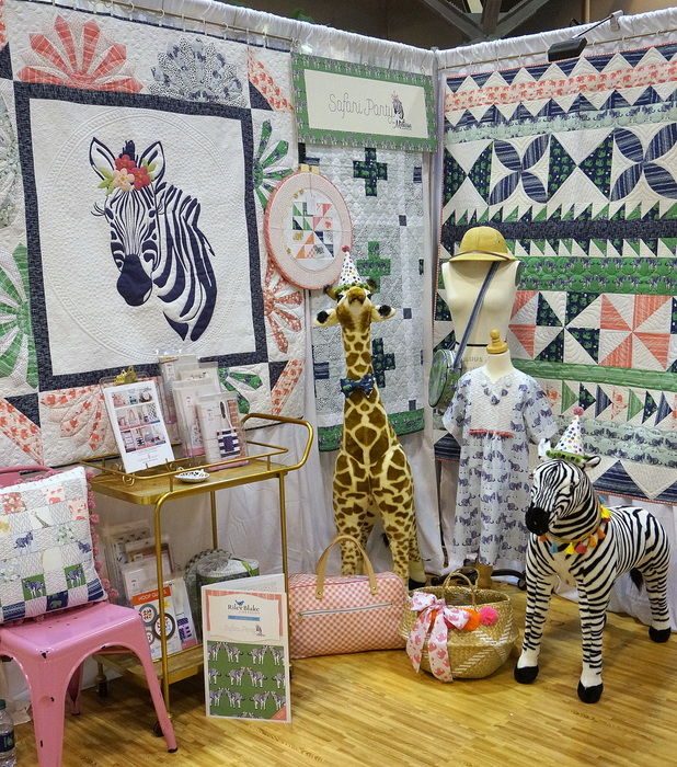 Safari Party booth at Spring Quilt Market 2017