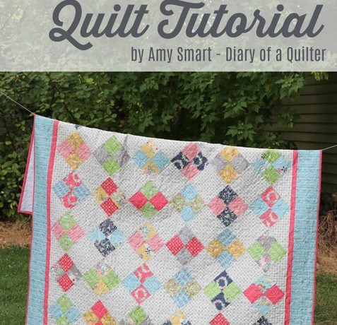 Four Patch On Point Patchwork Quilt Tutorial