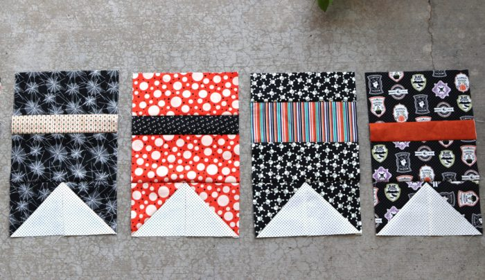 Halloween bunting quilt blocks