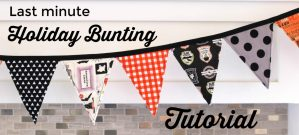 Halloween Fabric Bunting Tutorial