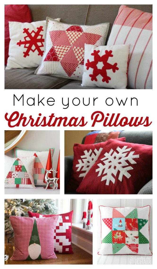 Christmas Pillows.Christmas Pillow Tutorials Diary Of A Quilter A Quilt Blog