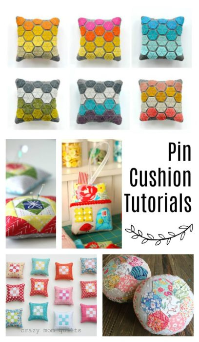 Pincushion tutorials - perfect gift for a quilter or friend who sews