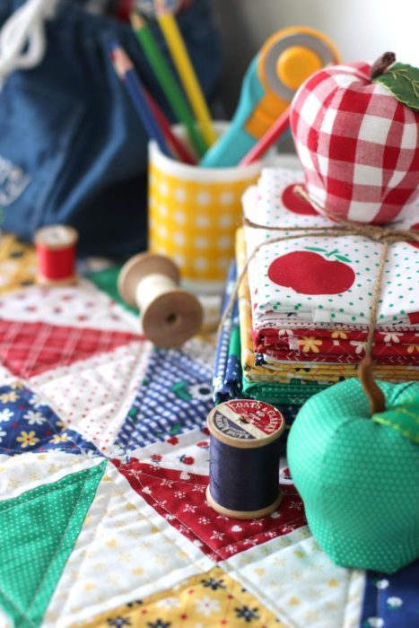 Vintage inspired Sunnyside Ave fabric collection by Amy Smart