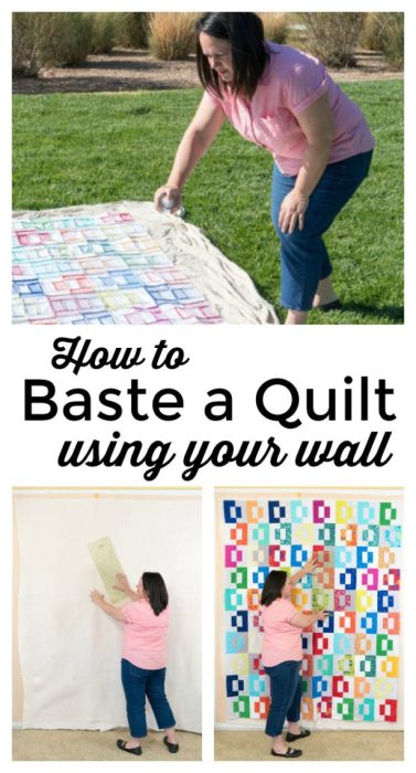 How to Baste a Quilt using your wall