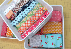 Lori Holt sort scraps by size