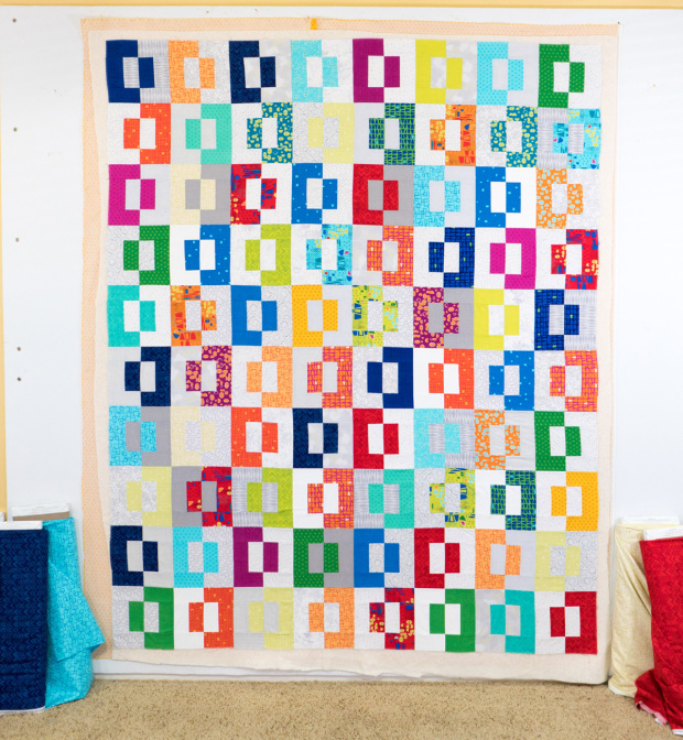 Modern Puzzle Quilt by Christa Watson - Free pattern!