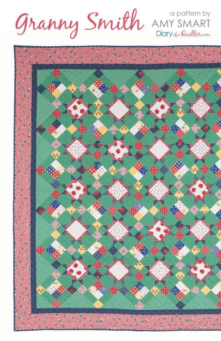 Scrappy Granny Smith Quilt Pattern precuts friendly