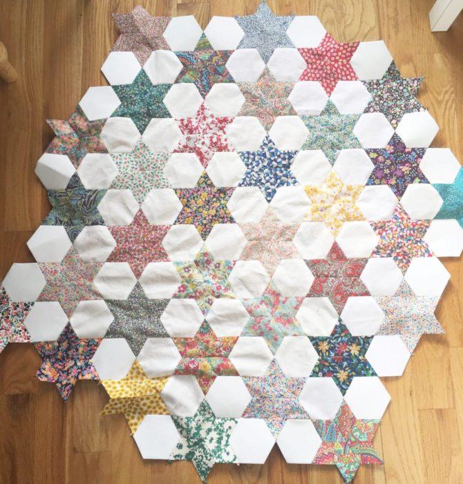 English Paper Piecing Liberty Stars