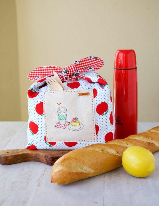 Sunnyside Ave fabric lunch bag by Minki Kim