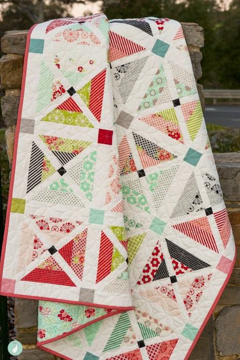 Cherry Lane Quilt by Samantha of Aqua Paisley Studio
