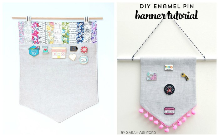 Banner tutorials to display your flair - enamel pins