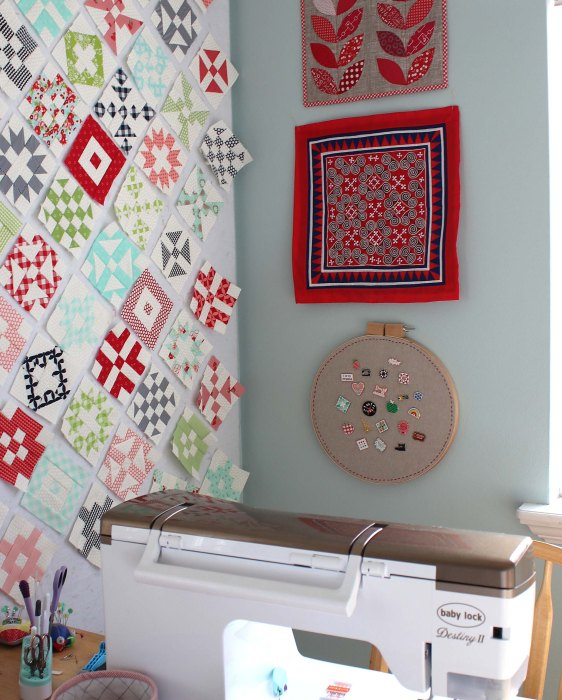 Sewing room flair display - Diary of a Quilter