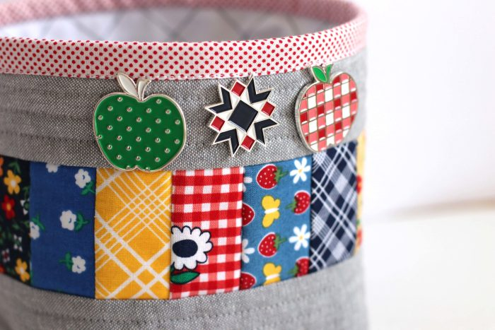 Diary of a Quilter - Amy Smart fabric and enamel pins