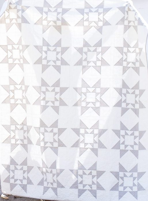 Free Modern Two tone quilt pattern