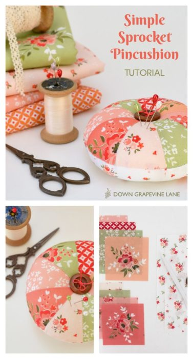 Simple Sprocket Pincushion Tutorial by Sedef of Down Grapevine Lane