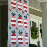 Patriotic Pineapple quilt from Jedi Craft Girl