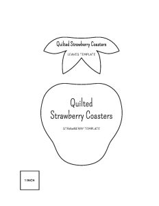 quilted strawberry coasters templates diary of a quilter a