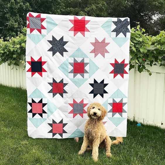 Timeless Stars Quilt Kit featuring Sunnyside Ave Fabrics