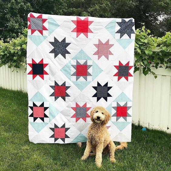 Timeless Stars Quilt Kit featuring Sunnyside Ave Fabrics