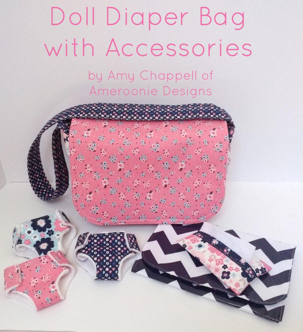 graphic regarding Handbag Patterns Free Printable named Doll Diaper Bag + Equipment Information