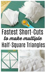 Fast Shortcuts to make multiple Half-Square Triangles