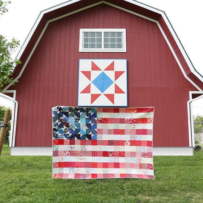 American Flag Quilt Pattern by Maker Valley