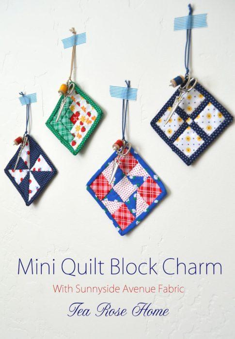 Mini Quilt BLock Charm tutorial