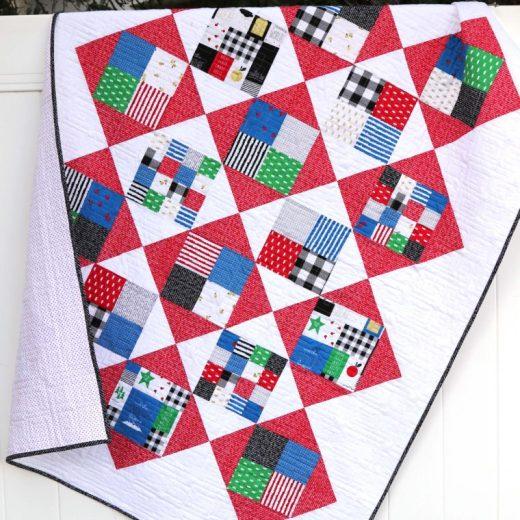 Amy Smart Quilt Tutorial Four Square pattern