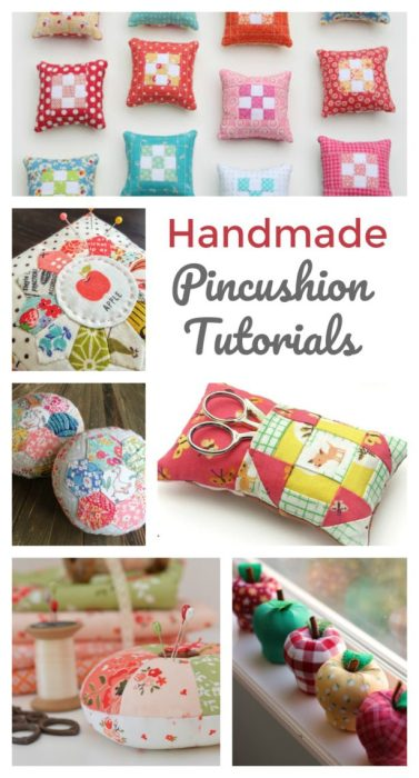 List of handmade pincushion tutorials - perfect for scraps