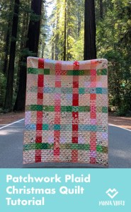 Patchwork Plaid Christmas Quilt Tutorial