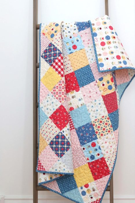 Patchwork On Point Quilt Tutorial | Diary of a Quilter - a quilt blog