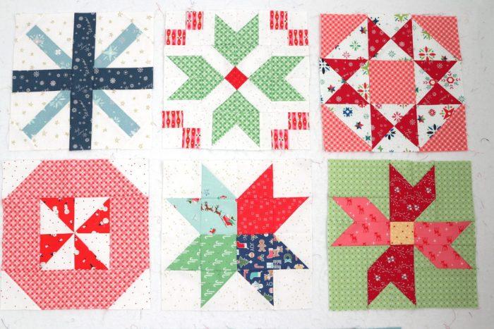 Lori Holt Vintage Christmas quilt blocks