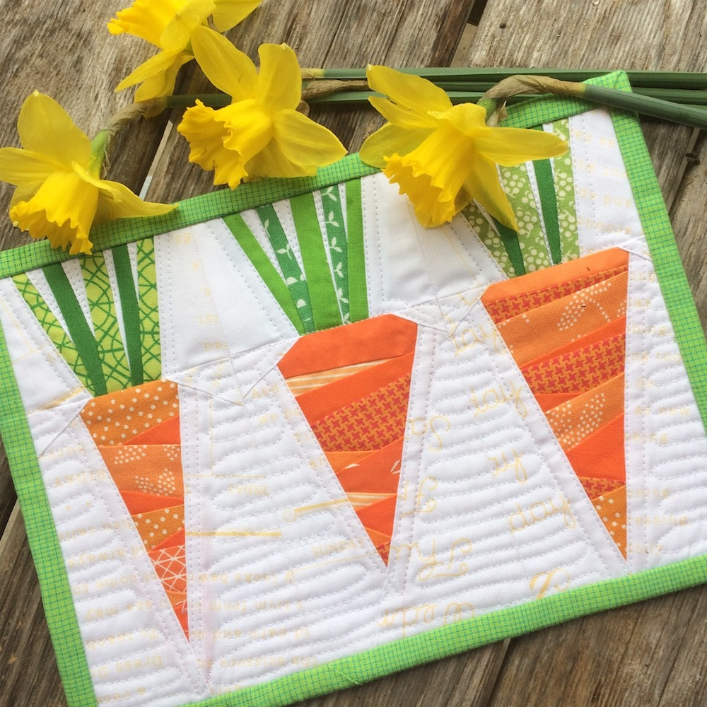 photo regarding Free Printable Paper Piecing Patterns for Quilting known as Basis Paper Pieced Carrots Mini Quilt by way of Leila Gardunia