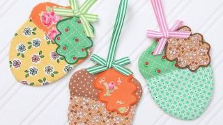 Acorn Fabric Ornaments Tutorial