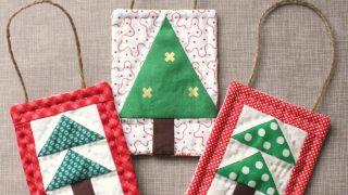 Mini Christmas Tree Quilt Ornament Tutorial